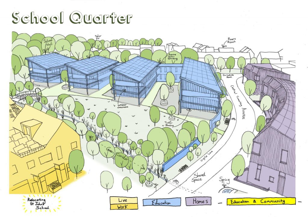 new site for st johns school in frome saxonvale