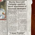 Frome Times: Mayday Saxonvale campaign questions secret appointment of Saxonvale developers page 2