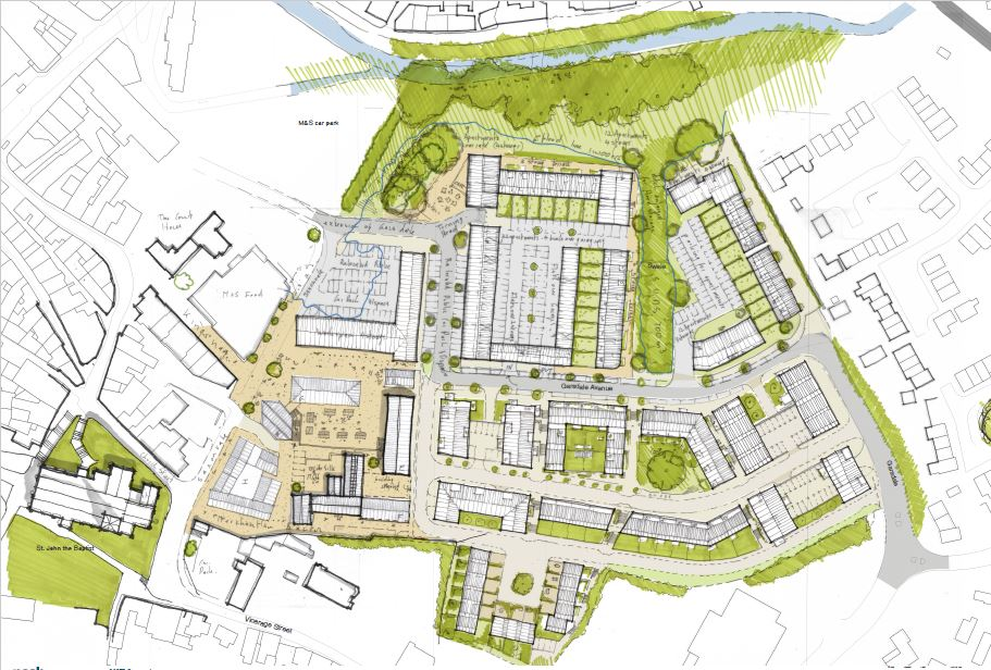 Acorn's Plan of Saxonvale Frome