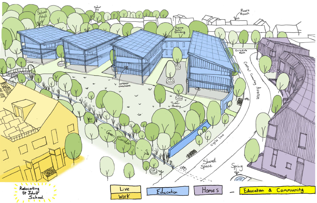 a new site for st johns school in frome